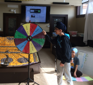 Sikh Kids Prize Wheel Learning Game at Youth Darbar